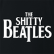 funny Wayne's world shitty beatles t-shirt black
