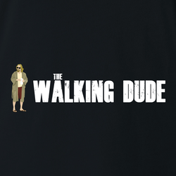 funny Big Lebowski The Dude Walking Dead Mashup men's t-shirt