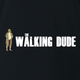 funny Big Lebowski The Dude Walking Dead Mashup Black t-shirt
