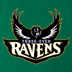 Funny Gam of thrones football Three Eyed Ravens men's ash t-shirt