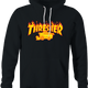 funny Farming Thresher Parody black hoodie