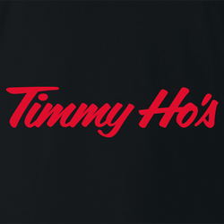 Funny Timmy Ho's Famous Canadian Coffee Shop White Men's T-Shirt