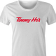Funny Timmy Ho's Famous Canadian Coffee Shop white women's t-shirt