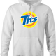 funny Tits and Tide Hilarious Offensive parody white hoodie