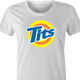 funny Tits and Tide Hilarious Offensive parody women's t-shirt white