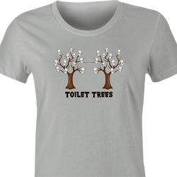 Funny Toilet Trees Play On Words men's t-shirt