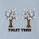 Funny Toilet Trees Play On Words light blue t-shirt