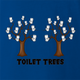 Funny Toilet Trees Play On Words Royal Blue t-shirt