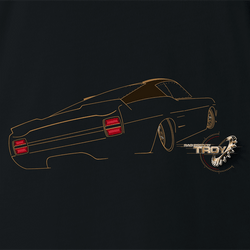 The Offical Rad Rides by Troy | Ford Gran Torino Back View | Men's T-Shirt | Cool Cars