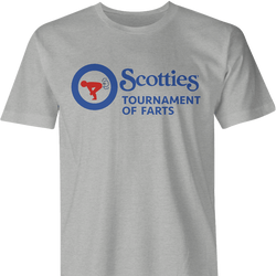 funny scotties curling tournament of farts white t-shirt