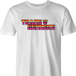 Funny Transgender Transformer parody t-shirt white men's