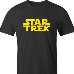 funny Star Trek Meets Star Wars Mashup Parody men's t-shirt