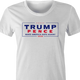 trump pence 2020 t-shirt white women's