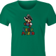 funny german nazi super mario women's green t-shirt