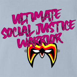 Funny Ultimate Social Justice Warrior - Social Justice Ultimate Warrior WWF Parody White Men's T-Shirt
