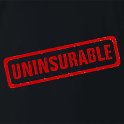 funny Uninsurable - Insurance Parody mens t-shirt white