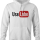 funny use lube sex white hoodie