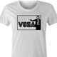 cool vincent vega pulp fiction sega parody women's white t-shirt