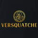 funny Bigfoot Fashion, Haute Couture Sasquatch Versace mashup t-shirt black