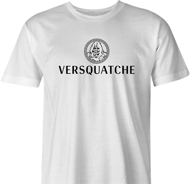funny Bigfoot Fashion, Haute Couture Sasquatch Versace mashup t-shirt white men's