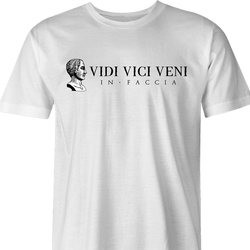 Famous quote veni vidi vici Julius Caesarfunny t-shirt men's white