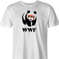 Funny Ultimate Warrior WWE WWF  parody t-shirt white