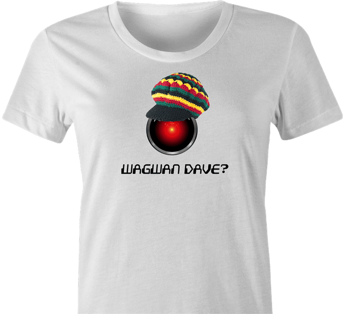 funny 2001 a space odyssey white women's t-shirt