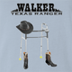 Walker texas Ranger is very old parody Chuck Norris t-shirt white light blue