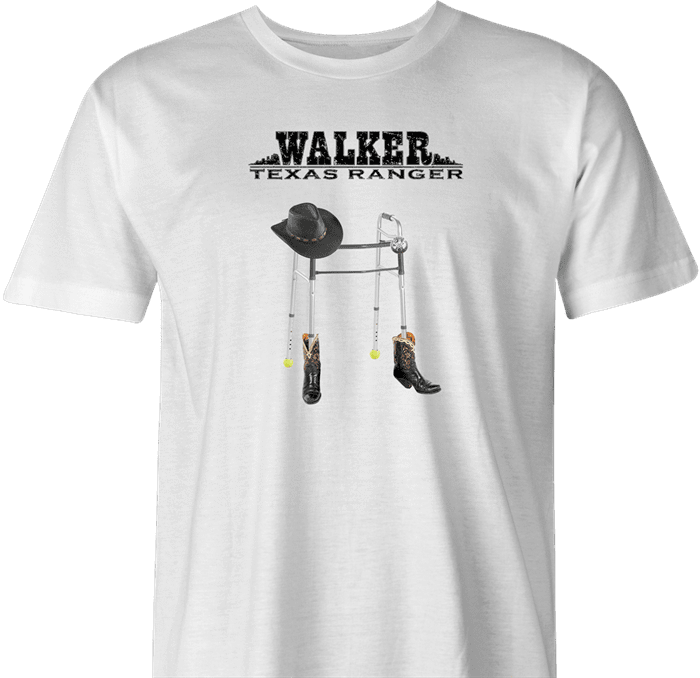 Walker texas Ranger is very old parody Chuck Norris t-shirt white men's
