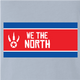funny we the north toronto raptors north korea light blue t-shirt