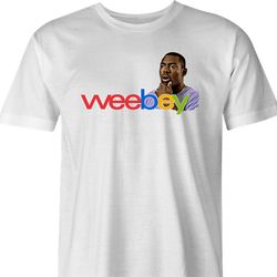 funny the wire wee bay mashup ebay white men's t-shirt