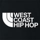 cool West Coast Hip Hop northface hip hop parody t-shirt black