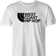 cool West Coast Hip Hop northface hip hop parody t-shirt white men's