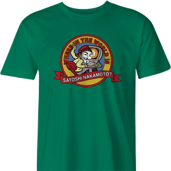where in the world is carmen sandiego satoshi nakamoto bitcoin men's green t-shirt