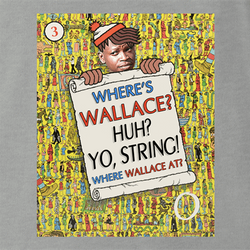 Where's Wallace? The Wire meets Where's Waldo men's t-shirt