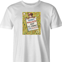 Where's Wallace? The Wire meets Where's Waldo  white t-shirt