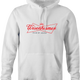 funny Budweiser and Budweiser Light Beer Parody - Jokers parody men's hoodie white