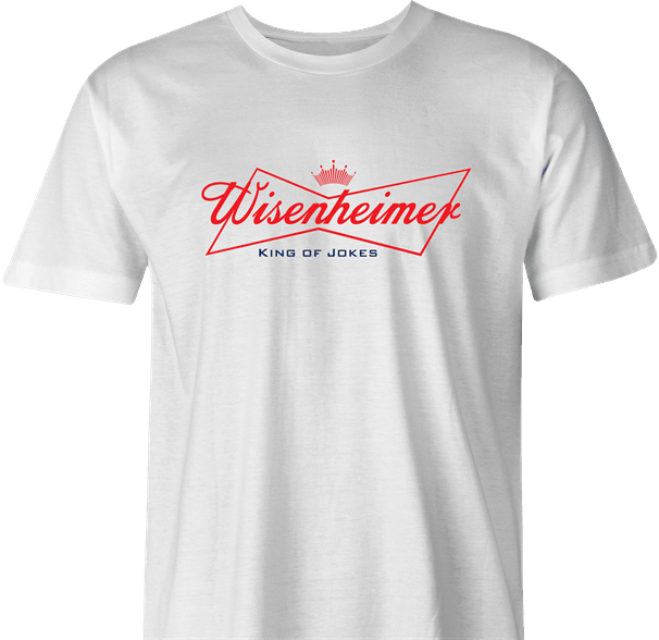 funny Budweiser and Budweiser Light Beer Parody - Jokers parody men's t-shirt white