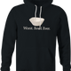 funny Funny play on words - Worst Bowl Ever - Cupcake  black hoodie