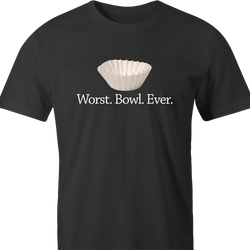 funny Funny play on words - Worst Bowl Ever - Cupcake  men's t-shirt
