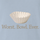 funny Funny play on words - Worst Bowl Ever - Cupcake  Light Blue T-Shirt