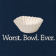 funny Funny play on words - Worst Bowl Ever - Cupcake  Navy t-shirt