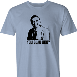 you glad bro mr rogers neighborhood white t-shirt