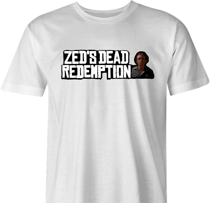 Funny Red Dead Redemption Zed from Pulp Fiction  parody t-shirt white men's