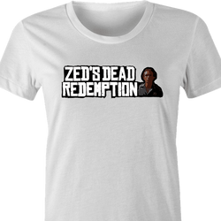 Funny Red Dead Redemption Zed from Pulp Fiction  parody t-shirt white