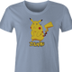 pikachu zika zikachu pokemon women's light blue t-shirt
