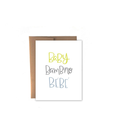 Baby Language Card