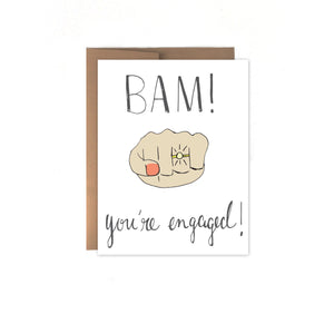 Bam! You're Engaged Card