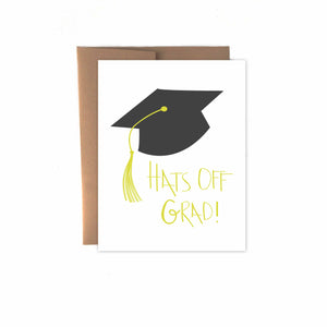 Hats Off Grad Card