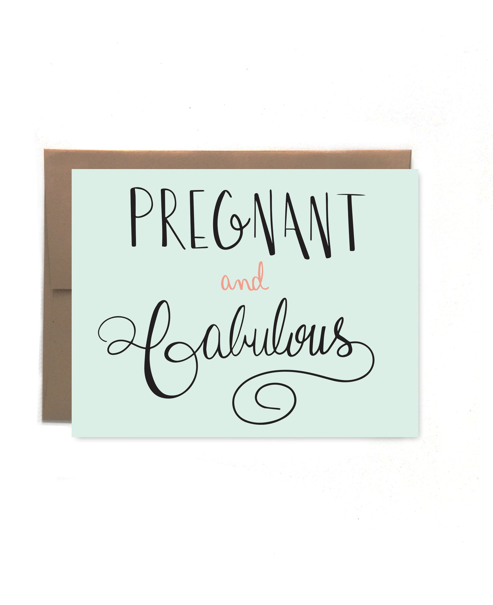 Pregnant & Fabulous Card